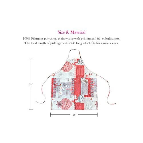 FBTS Basic Aprons with Xmas Pattern 3 Pack