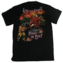 Live To Fight, Fight To Live Firefighter Adult T-Shirt-xxl