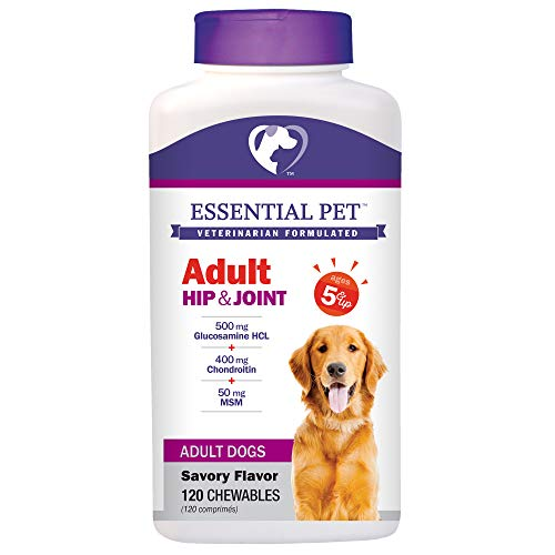 Adult Dog Hip & Joint Support Chewable Tablet Age 5+ with 500mg Glucosamine and 400mg Chondroitin ()