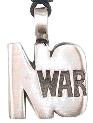 Not Costume Peace War (Dan's Jewelers Make Peace Not War Symbol Necklace Pendant, Fine Pewter)