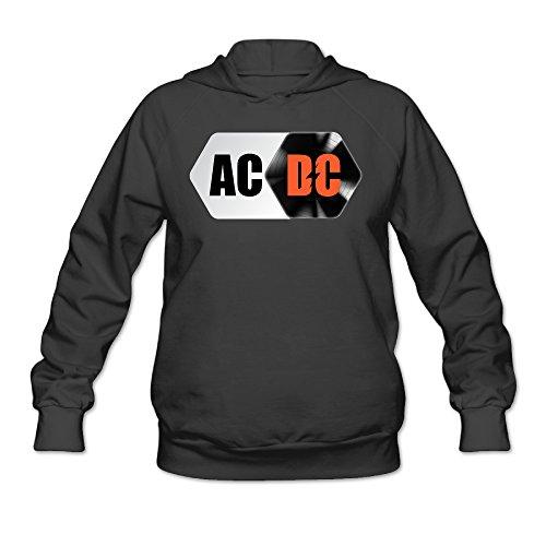 Angus Young Costume Women (CYANY AC/DC Australian Rock Heavy Metal Band Women's Best Graphic Hoodies Sweatshirt XLBlack)