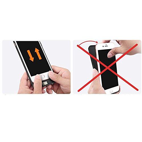 iphone 8 Coque Batterie case , AVIDET 5000 mAh Recharger Portable pouvoir cas Banque de batterie pour iphone 8 (Noir)