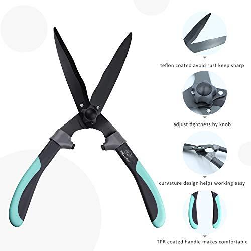 Rainbow Craft Ergonomic TPR Handle Hedge Shear, Bush Clipper - 17'' - Blue Color