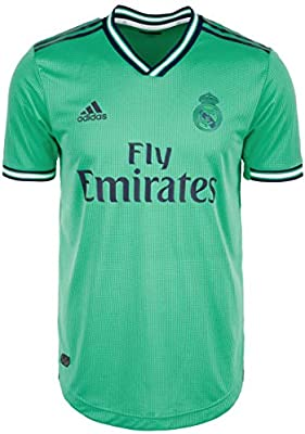 adidas Real Madrid Tercera Equipación Authentic 2019-2020, Camiseta, HI-Re Green-Night Indigo, Talla S: Amazon.es: Deportes y aire libre