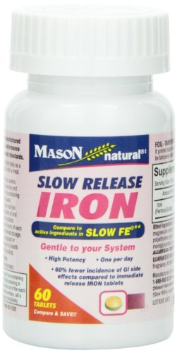 Mason Vitamins Slow Release Iron Compare to The Active Ingre