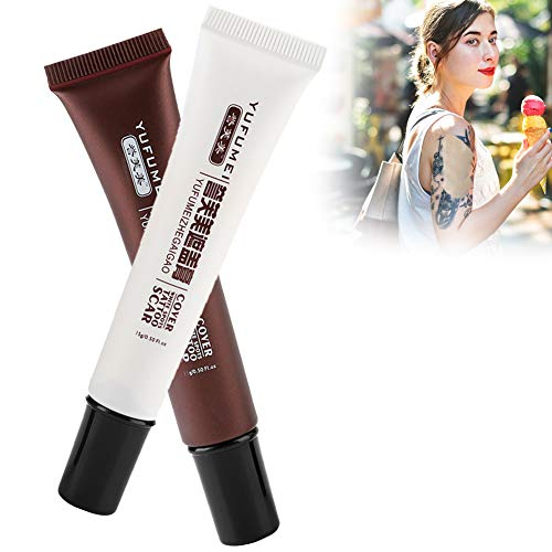 Best Scar Cream, Professional Concealer for Tattoo Cover Up, Vitiligo Spots Birthmarks Hiding, Makeup Set for Age Spots & Cover Bruises with Waterproof Design
