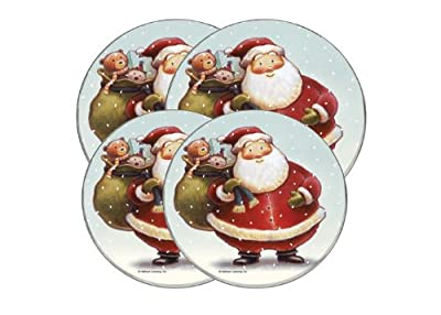 Range Kleen Hallmark Holiday Design Round Burner Kovers,Set of 4