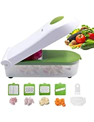 Vegetable Chopper,Pro Onion Chopper Slicer Vegetable Dicer Cutter - Cheese Grater & Veggie Chopper - Food Chopper Dicer with 5 Blades