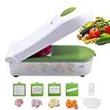 Vegetable Chopper,Pro Onion Chopper Slicer Vegetable Dicer Cutter - Cheese Grater & Veggie Chopper - Food Chopper Dicer with 5 Blades