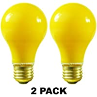 Satco S3939 100 Watt A19 Incandescent Yellow Bug Light Bulb, by Satco