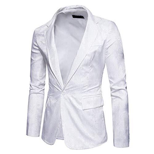 Corte Los Battercake Chaquetas Chaqueta Con Elegante Hombres Paisley Blanco  Manga De Blazer Larga Cómodo Casual Botón Solapa Slim Ocio Traje ... b225411462b4