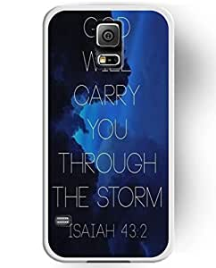 UKASE Hard Back Cover Skin Cases with Cool Painting of God Will Garry You Through the Storm for Samsung Galaxy S5 by lolosakes by lolosakes