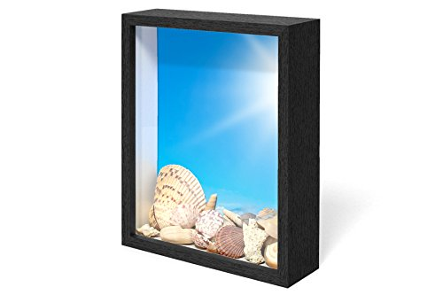 Swing Design Chroma Shadow Box Frame, 8 by 10-Inch, Black