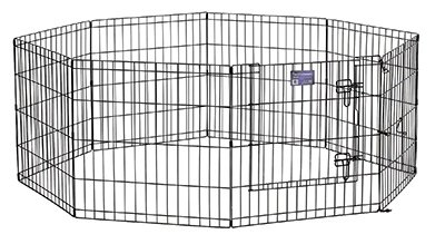 Midwest Metal Products 556-42DR Pet Exercise Pen, Black, 42-In. - Quantity 1