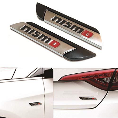- 2x 3D Nismo Black Car Truck Badge Fender Emblem Metal Chrome Decal Sticker For All Vehicles