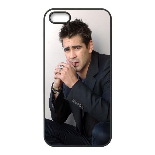 Colin Farrell coque iPhone 5 5S cellulaire cas coque de téléphone cas téléphone cellulaire noir couvercle EOKXLLNCD22950
