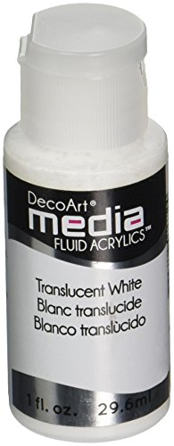 White Fluid - Deco Art Media Fluid Acrylic Paint, 1-Ounce, Translucent White