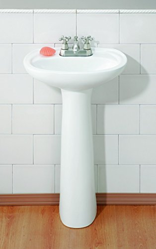 Cheviot Products Inc. 613-WH-1 Fiore Pedestal Sink 1 Faucet Hole, White by Cheviot Products Inc.