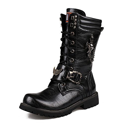 Retro Motorcycle Boots - 8