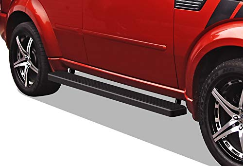 APS iBoard Running Boards (Nerf Bars | Side Steps | Step Bars) for 2007-2012 Dodge Nitro Sport Utility 4-Door | (Black Powder Coated 5 inches)