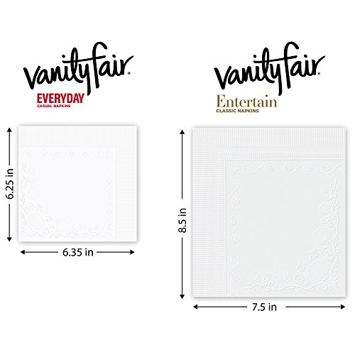 Vanity Fair Everyday Napkins, 1080 Count, White Paper Napkins, 12 Packs of 90 Napkins by Vanity Fair (Image #5)