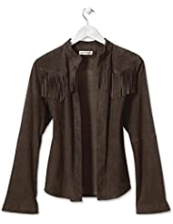 Orvis Fringed Suede Shirt Jacket