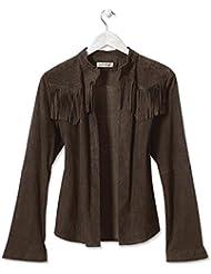 Orvis Fringed Suede Shirt Jacket