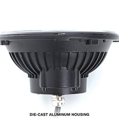 Pro Comp Suspension 76402P LED Headlight Pair Round 7 in. LED Headlight