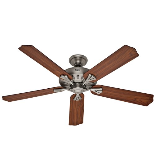 Hunter 23685 The Royal Oak 60-Inch 3-Speed Ceiling Fan with 5 Walnut/Chestnut Blades, Antique Pewter, Appliances for Home