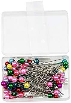 costurera Patchwork Gshy colocaci/ón de pl/ástico decoraci/ón de Flores alfileres para Elementos de Joyas 100 alfileres de Cabeza de Cristal para Costura