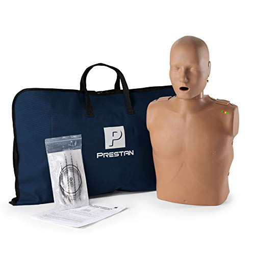 Prestan Professional Adult Dark Skin CPR-AED Training Manikin (with CPR Monitor)