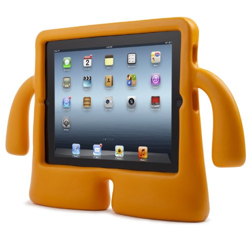 Freestanding Case for iPad 4, iPad 3, iPad 2, and iPad 1, Mango Orange, SPK-A1227 ()