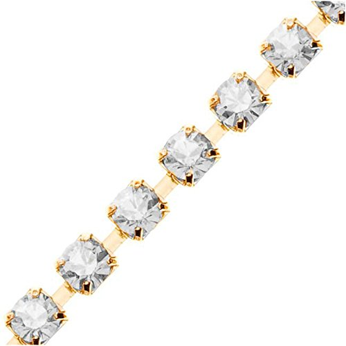 (Swarovski Elements Gold Plated Rhinestone Cup Chain 24PP Crystal - by The FT.)