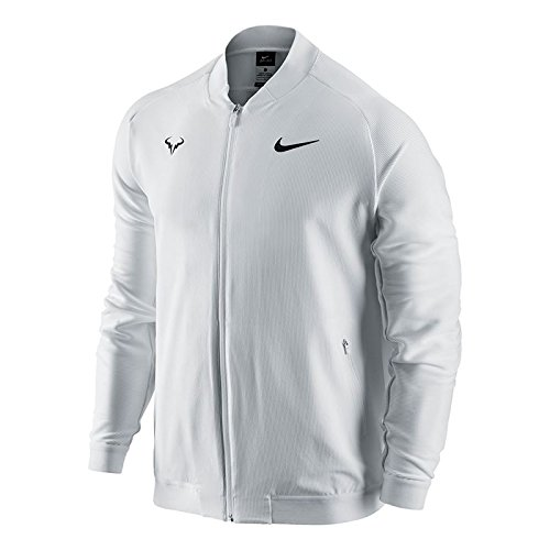 Nike Mens Premier Rafael Nadal Woven Tennis Jacket White 728986-101 (Large)