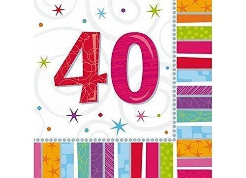 Partydeco 16 Piezas Servilleta Servilletas X 33 33 cm Numero ...
