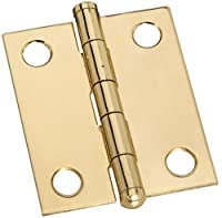 "Stanley Hardware S803-270 CD5303 Button Tip Hinge in Brass , 1-1/2"", 2 piece"