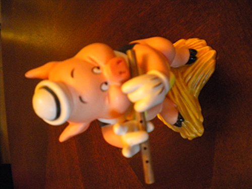 Walt Disney Classics Figurine Three Little Pigs FIFER PIG I Toot My Flute
