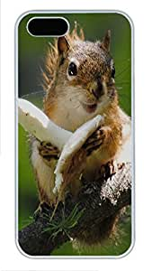 iPhone 5 5S Case Little squirrel PC Custom iPhone 5 5S Case Cover White