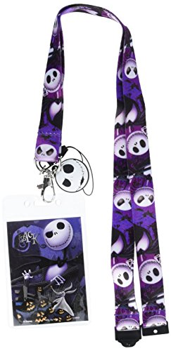 Disney Tim Burton's The Nightmare Before Christmas Jack Lanyard with Soft Dangle & Card Holder