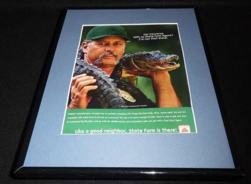 2001-state-farm-insurance-alligator-framed-11x14-original-advertisement