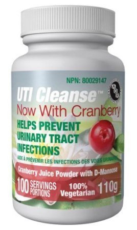 UTI Cleanse D-Mannose + Cranberry powder (110g) Brand: A.O.R Advanced Orthomolecular Research by Advanced Orthomolecular Research