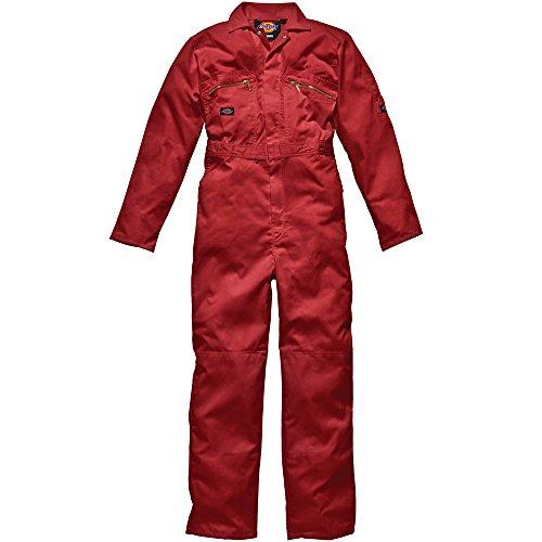 Dickies Redhawk con cremallera para Regular/trabajo para hombre Rojo