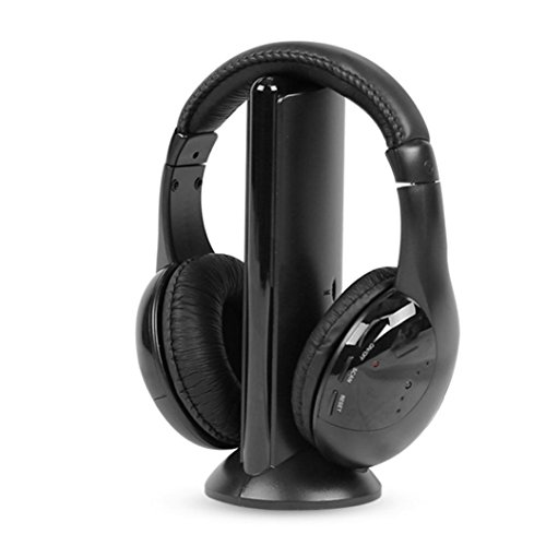 Ikevan Earphones , 5IN1 Wireless Headphone Casque Audio Sans Fil Ecouteur Hi-Fi Radio FM TV MP3 MP4 - Sunglasses Mp4