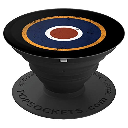 Raf Type - Royal Air Force Roundel RAF Type C1 Late War - PopSockets Grip and Stand for Phones and Tablets