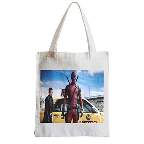 Große Tasche Sack Einkaufsbummel Strand Schüler Deadpool Negasonic teenage mutant Sprengkopf