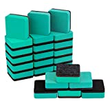 ANPHSIN 24 Pieces Magnetic Whiteboard Erasers- 2x2'' Mini Chalkboard Erasers Cleaner for Home Office and School- Green