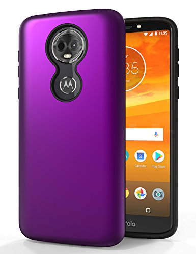 SENON Moto E5 Supra Case,Moto E5 Plus Case, Slim-fit Shockproof Anti-Scratch Anti-Fingerprint Protective Case Cover for Motorola Moto E5 Plus (USA Version)-Purple