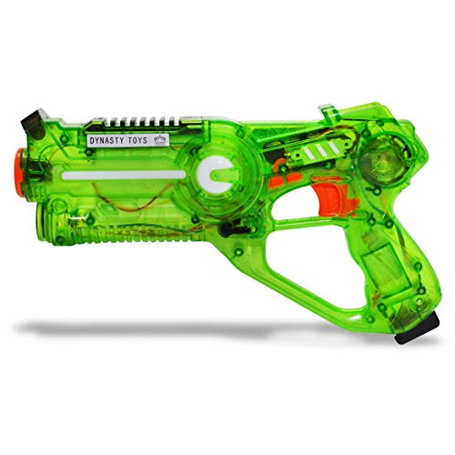 DYNASTY Outdoor Games for Kids - Infrared Laser Tag Single Blaster. Vest-Less Lazer Tag Games at Night / Day - Designed to Play at Home or On-The-Go. Indoor and Outdoor Games for Families (Green)