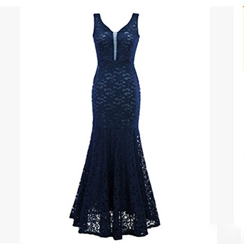 KUKI Frau Fischschwanz Kleid leak zurück Partei Abendkleid 6 ...