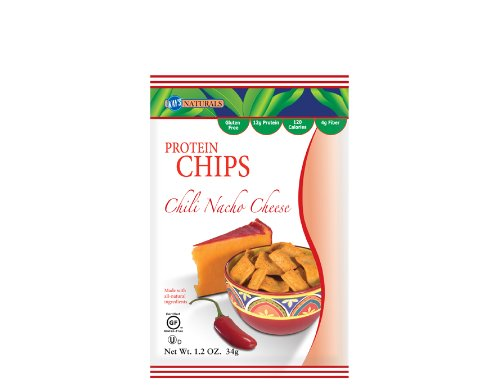 Kay's Naturals Protein Chips, Chili Nacho Cheese,Gluten Free 1.2-Ounce Bags (Pack of 12)
